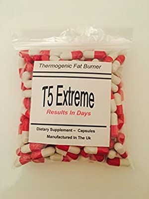 T5 ADVANCED FAT BURNERS - LOSE UPTO 21LBS IN 1 MONTH - MADE IN THE UK - *****BUY 2 GET 1 FREE***** for Weight Loss, Appetite Suppressant - For Men and Women and T5 Thermo Red, Extra Strong Fat Burners Slimming Pills from KJL SUPPLEMENTS