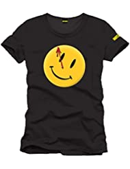 Watchmen - Camiseta con logo Smiley - Licencia oficial DC Comics - Negro - L