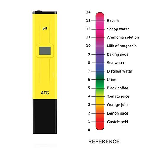 hefeibiaoduanjia Tragbarer Digitaler Tester Pen für Aquarium, Pool, Wasser, Getränke, pH-Messgerät, tragbar, genauer digitaler Teststift, Plastik, Gelb