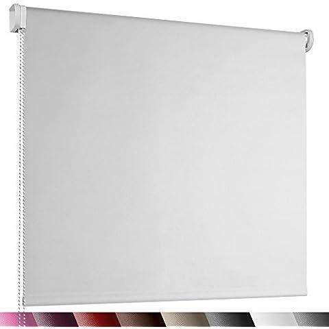 Jago – Estor enrollable de color blanco y tamaño 80 x 230 cm