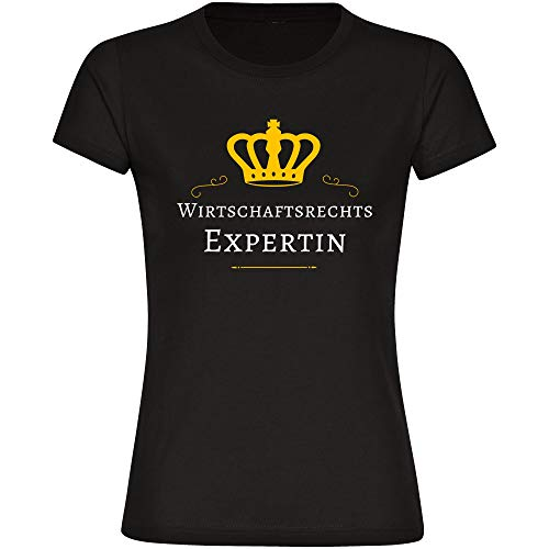 T-Shirt Wirtschaftsrechts Expertin schwarz Damen Gr. S bis 2XL - Lustig Witzig Sprüche Party Funshirt, Größe:XL