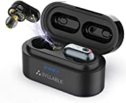 Wireless Headphones, Syllable Bluetooth Headphones 50H Playtime Deep Bass Stereo Earphones, Built-in Qualcomm QCC3020 Chip,