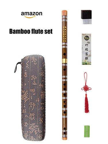 G F Key Dizi Bambus Flöte für Anfänger mit gratis Membran & Kleber & Displayschutzfolie Set Traditionelle Chinesische Instrument Key of F