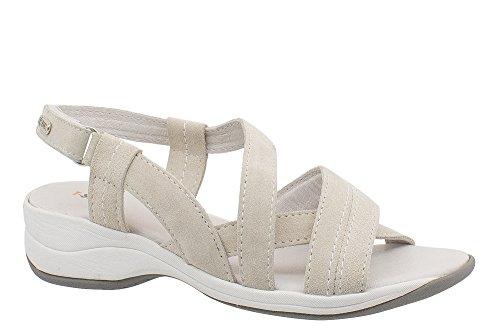 T-Shoes - Ibiza TS019 - Sandale en suede avec semelle interieure Ortholite Blanc