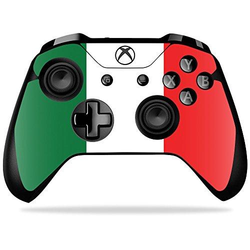 MightySkins Schutzfolie für Microsoft Sticker, 100 Farben Italien-Flagge Microsoft Xbox One X Controller (Und Helle Blaue Gelbe Flagge)
