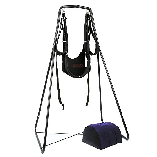 CS-PYY Hängendes Seil Hängematte Schaukel Stuhl for Innen/Außen/Hof/Schlafzimmer mit Fußablage Inflation Sofa Vorrichtung Relax
