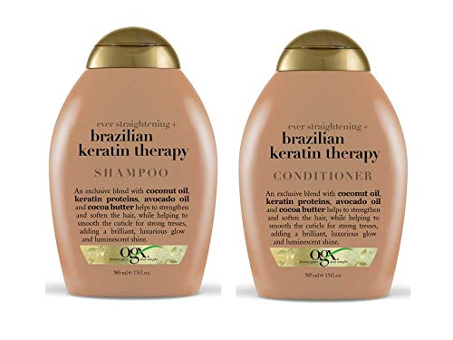OGX Brazilian Keratin Defrizzant Shampoo & Conditioner 385ml