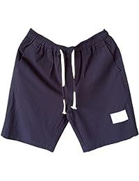 550d059aa1 Cargo Bermudas Hombre Chino Pantalones Cortos De Playa Deportivos Chinos  Pantalon Lino Cintura Elástica Tallas Grandes