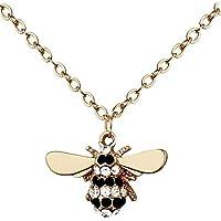 Katylen Little Bee Lady Diamant Armband Elegante Zirkon Mode Armreif Handpiece Nette Kleine Biene Halskette Schmuck,F,Einheitsgröße