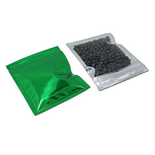 10.2x12.7cm 100 Stück Grün Farbe Ziplock Alufolie Taschen Küche Ordnung Verpacken Vor die Tasche...