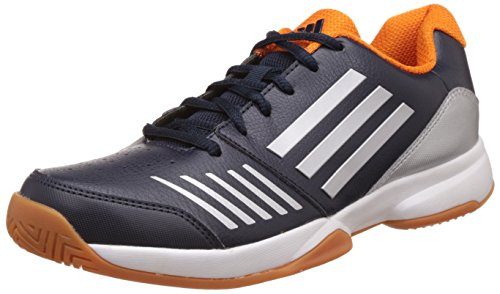 adidas Men's All Court Indoor Ntnavy, Uniora and Silvmt Basketball Shoes - 7 UK/India (40.7 EU)