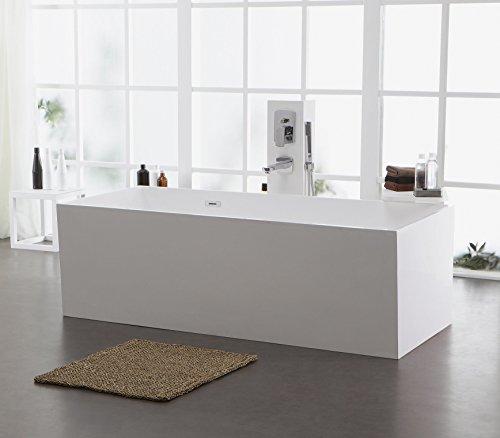 Freistehende Badewanne aus Mineralguss KZOAO-1006 glänzend