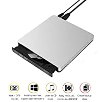 ‏‪External DVD Drive USB 3.0 - Portable for Laptop Slim Burner Suitable for Compact Disc CD-R/DVD+R/DVD-R/DVD+R DL and Rewritable Disc CD-RW/DVD-RW/DVD+RW‬‏