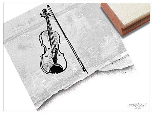 Stempel - Motivstempel Violine Geige, groß - Bildstempel Musikinstrument, Geschenk Kita Schule Beruf Hobby Karten Basteln Kunst Deko - zAcheR-fineT