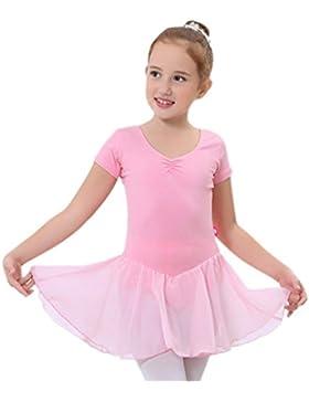 [Patrocinado]Happy Cherry - Niñas Traje Vestido Tutú de Ballet Baile Falda de Danza Maillot Ropa de Gimnasia Leotarto Clásico...
