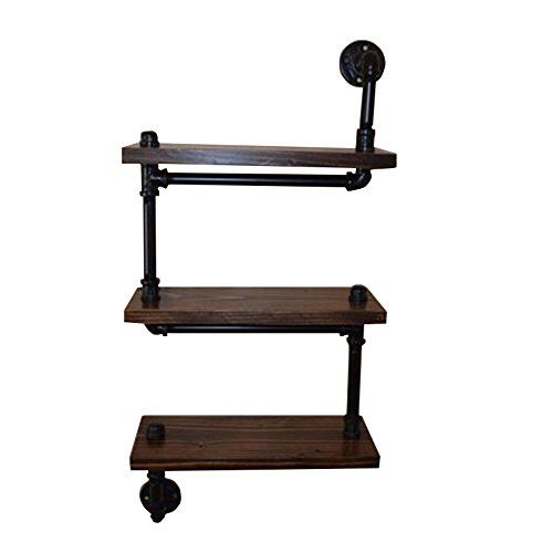 Europa y los Estados Unidos pipas de hierro / dormitorio oficina de madera de múltiples funciones estantes de almacenamiento 50 * 20 * 85 cm