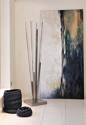 Insegneshop appendiabiti da terra in acciaio satinato e plex, plexiglass da ingresso/soggiorno / arredo design moderno