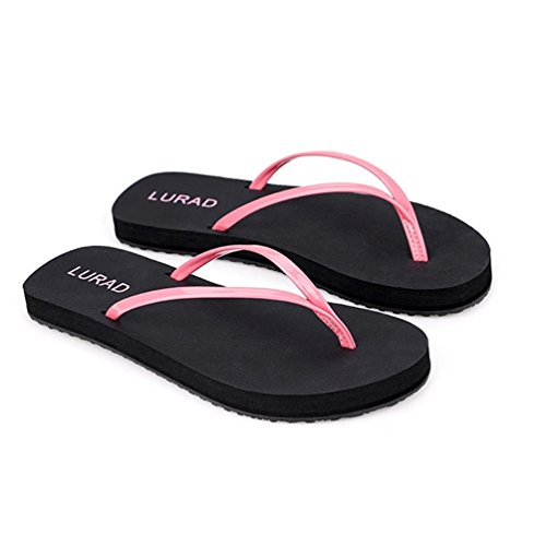Baymate Donna Spiaggia Infradito Casuale Vacanza Pantofole Antiscivolo Sandali Pink