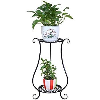 c5f45cbb660 Giplar Étagère à Fleurs en Metal Fer Porte Pots de Plante Fleurs Etagere  Support Jardin Noir