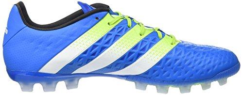 adidas Ace 16.1 Ag, Scarpe da Calcio Uomo Blu (Shock Blue/Semi Solar Slime/Ftwr White)