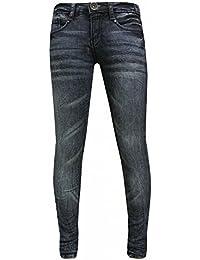 Blue Rebel - Fille pantalon jeans délavé, bleu