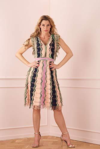 M Missoni Kleid Puder | Multicolor-38 (M Missoni Kleider Für Damen)