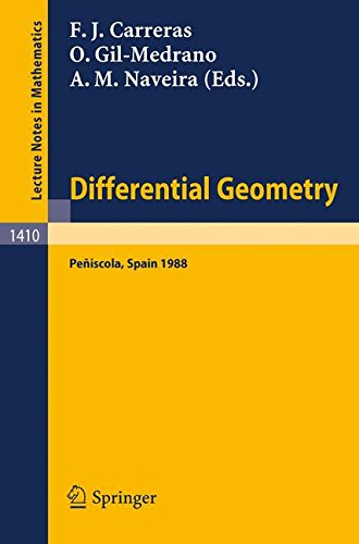 Differential Geometry: Proceedings of the 3rd International Symposium, held at Peniscola, Spain, June 5-12, 1988