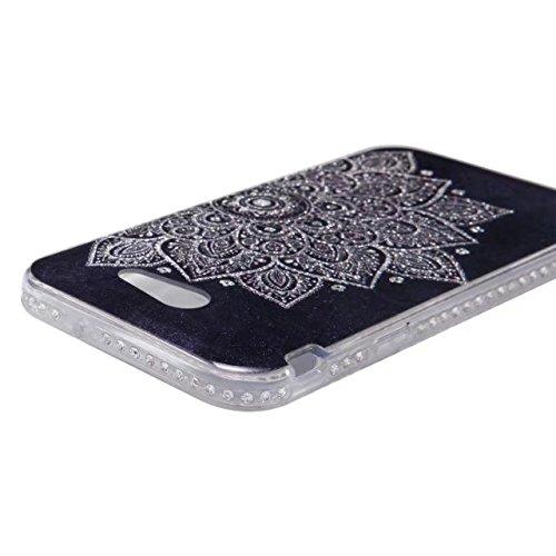 Bling Sparkle Glitter Rhinestone Resin Diamant Schützende Rückseite Cover Case Soft TPU Shell Stoßfänger [Shock Absorbtion] für Samsung Galaxy J3 2017 ( Color : B ) D