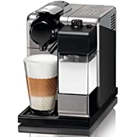 Nespresso DeLonghi Lattissima Touch EN 550S-Cafetera de cápsulas, 19 bares, apagado automático, depósito de leche, táctil, color Palladium Silver