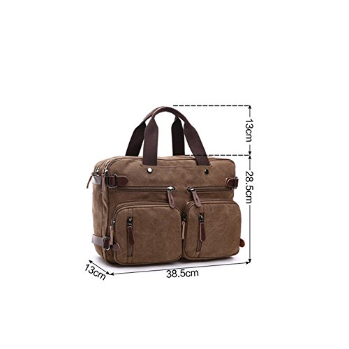 new product a7363 f91fc ... DeLamode Borsa da spiaggia, Grey (Grigio) - DLBag-0007-06 Coffee