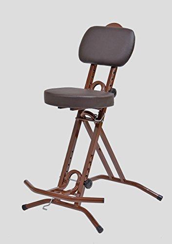 LIBEDOR Stehhilfe Stehhocker Stehsitz Sitz Sitzhilfe Stehstütze Braun ergonomischer Sitz mit 6 cm...