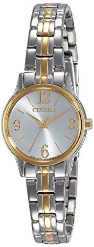 Citizen  EX0294-58H - Reloj de cuarzo para mujer, con correa de acero inoxidable chapado, color multicolor