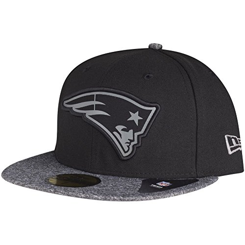 New Era 59FIFTY NFL Grey Collection New England Patriots Cap, Schwarz, 7 1/8 - 57cm (M)