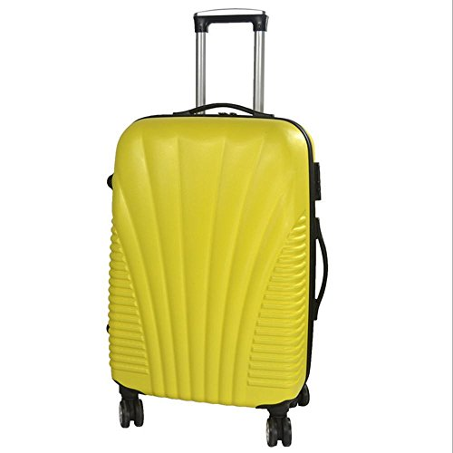 Xiuxiandianju ABS materiale esterno viaggio bagagli Trolley Case 20/24/28 pollici partita caso SuitcaseColour & formato differente (56-75L) Yellow