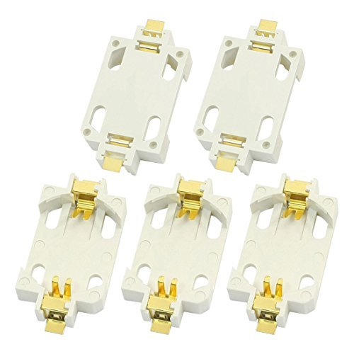 5pcs Witte Surface Mount SMD CR2032 Cell Button batterij Holder Socket - Surface Mount-button