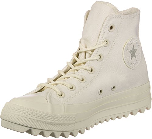 Converse Ctas Lift Ripple Hi Natural, Sneaker a Collo Alto Unisex – Adulto Beige (Natural)
