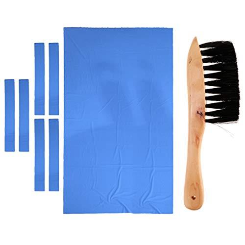 SM SunniMix Kit Sostituzione Feltro Tavolo da Biliardo da 9 Piedi 06 Mm e Detergente per Spazzole su Rotaia Protezione della Copertura del Panno da