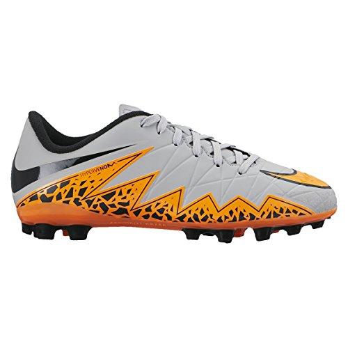 Nike Jr Hypervenom Phelon Ii Ag - wolf grey/total orange-blk-blk, Größe Nike:4Y (Fußball-schuhe Für Kinder, Nike, Größe 4)