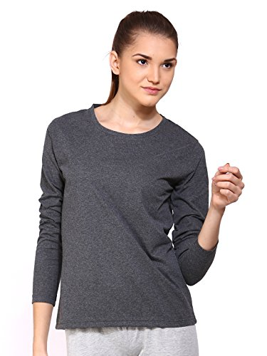 Ap'pulse Women's Long Sleeve Round Neck T Shirt (AP-WM-RN-LONGSLV-237-AMEL-S)  available at amazon for Rs.295