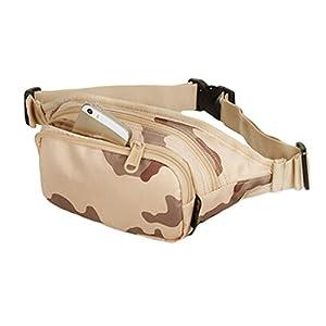 419nyVx4KCL. SS300  - Waterproof Pouch Zipper Pockets Fanny Pack Waist Bag for Sports - Desert Camo