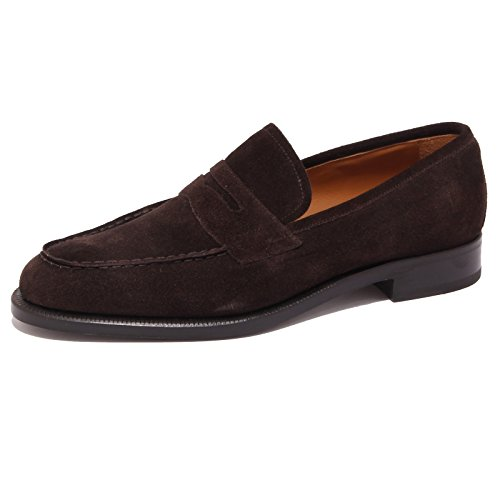 9141P mocassino uomo J. HOLBENS suede marrone shoe men [42]