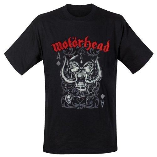 Motorhead Playing Card - Camiseta manga corta para hombre, color negro, talla 2XL