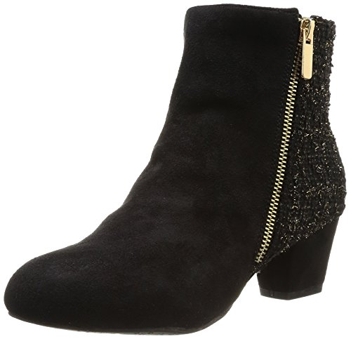 Chocolate Schubar - Stivali, Donna, Nero (Noir (Tweed/Black)), 37