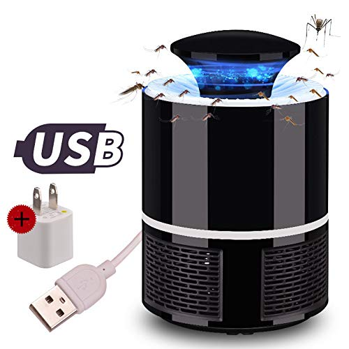 Asesino De Mosquitos, USB Fotocatalizador Asesino De Mosquitos, 360 ° LED Luz De Guía, No Hay Productos Químicos, Sin Radiacion Mudo Portátil Impermeable