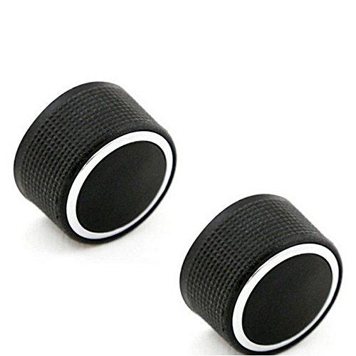 Boomboost Aluminiumlegierung Audio Radio Auto Klimaanlage Switch Knopf Schaltknopf Betätigen AC Knopf Auto 2Stk/Set Schwarz