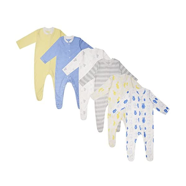 Ex UK Store Baby Boys 3 Pack Sleepsuits Babygrows M&S TB-36M