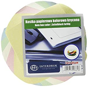 Interdruk KOSPAPFKKR - Bloque de Notas (70 x 70 x 35 mm, Giratorio)
