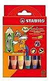 Schwan STABILO Woody 3 in 1 Chunky Wachsmalstifte - 6er Pack