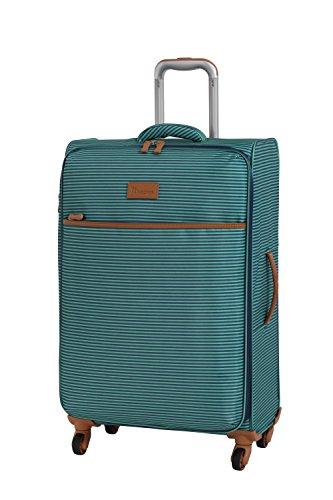 it luggage Beach-Stripes 4 Wheel Lightweight Semi Expander Suitcase Medium with TSA Lock Koffer, 70 cm, 90 liters, Mehrfarbig (Teal Stripes)