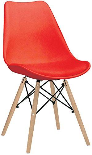 Brianza Outlet Epica Sedia con Design Storico, Rosso, 50 x 48 x 82 cm
